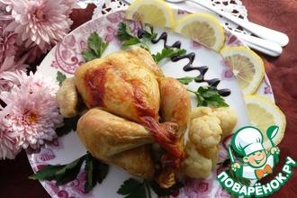 Цыплята корнишоны с гарниром