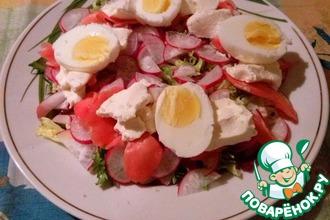 Салат с редисом и имбирем