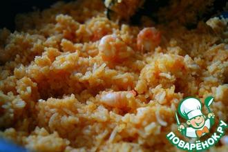 Жареный рис с креветками и специями масала