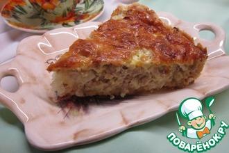 Пирог с капустой и мясным фаршем