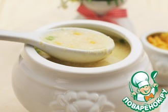 Яичный суп с кукурузой