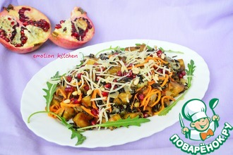 Салат с баклажаном и чёрным рисом