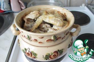 Курица в горшочке