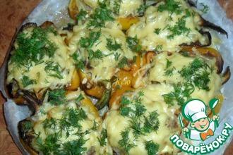 Фаршированные перцы с ананасами под сыром