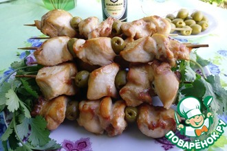 Куриный шашлык с оливками