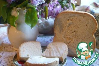 Белый хлеб на закваске в хлебопечке
