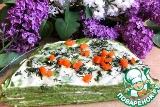 Омлетный тортик из брокколи
