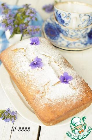 7. Затем кекс вынуть, остудить и посыпать сахарной пудрой.