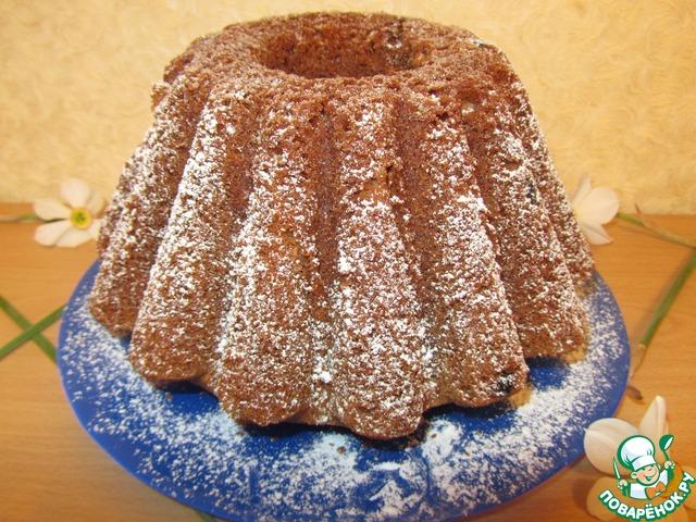 Готовый кекс вынуть из формы когда он остынет и посыпать сахарной пудрой.