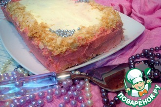 """Торт """"Наполеон"""" с малиновым ароматом"""