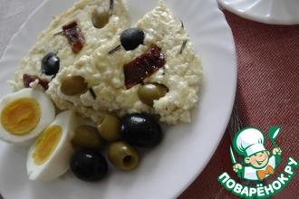 Пате из творога, маслин и вяленых томатов