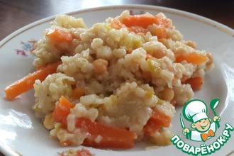Перлово-рисово-нутовая каша с овощами