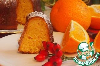 Апельсиновый кекс с кокосом