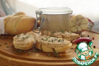 Рийет из свинины на французском багете
