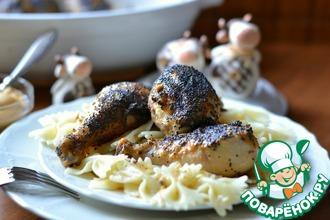 Куриные голени в горчичном соусе с маком