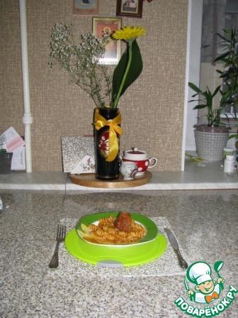 По окончании программы выложить в отдельную миску и подать с гарниром (любым), у меня с итальянскими макаронами.
