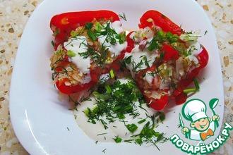 Перцы, фаршированные овощами, для правильного питания