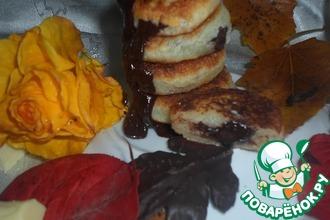 Сырники с шоколадом и кокосовой стружкой