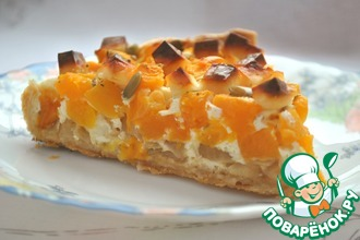 Сырно-тыквенный пирог