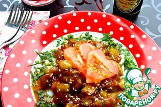 Баклажаны в медовом соевом соусе