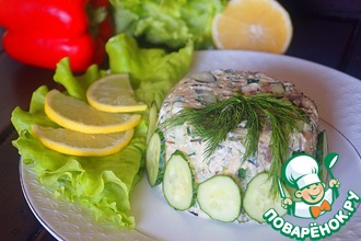 Салат с копченой рыбой