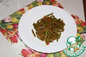 Тушеная зеленая фасоль с помидорами
