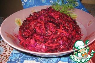 Салат по-корейски с фасолью