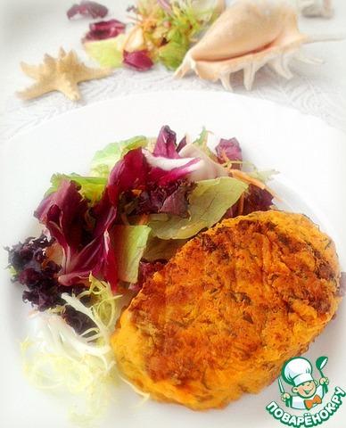 Получается очень нежная и сочная рыба за счет этого кляра! Подаем со свежим салатом. Очень вкусно!