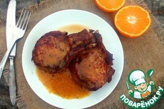 Свинина на кости с мандариновым соусом