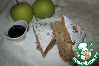 Гречневый пирог с яблоками и корицей