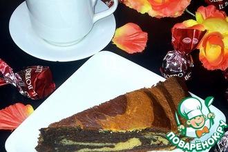 Пирог с белым и чёрным шоколадом
