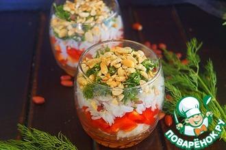 Салат с рисом и арахисом