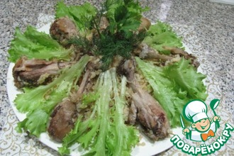 Курица в сливках, тушенная с рисом в мультиварке