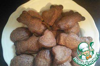 Шоколадное печенье в формочках