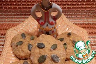 Тыквенное печенье с овсяными хлопьями и пряностями