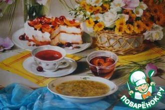 Суп с шампиньонами и цветной капустой