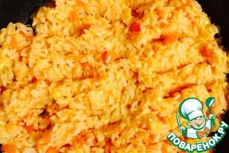 Рис с сыром и помидорами