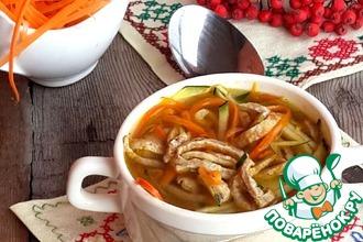 Осенний овощной суп с гречневым омлетом