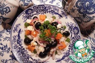 Салат с рисом и виноградом