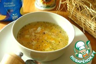 Пшённый суп с консервированным тунцом