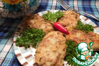 Картофельно–гороховые котлеты с фаршем