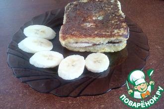 Сэндвич с шоколадной пастой и бананом