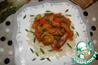 Куриное мясо с болгарским перцем