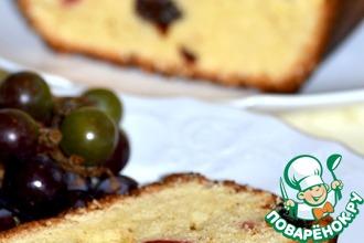 Сдобный кекс с ромом, изюмом и вишней