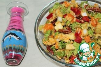 Осенний салат с пшеном