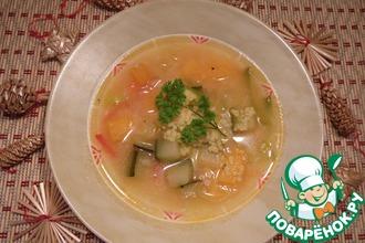 Суп с пшеном и овощами