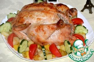 Курица, жаренная по-нормандски