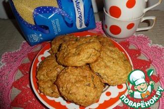 Печенье с пшеном и хурмой