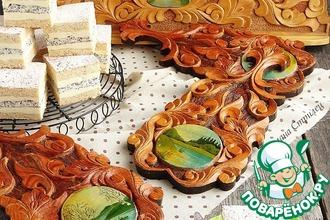 Медово-маковый торт с манным кремом