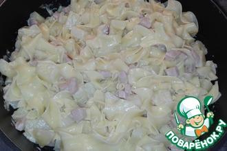 Макароны с картофелем в соусе